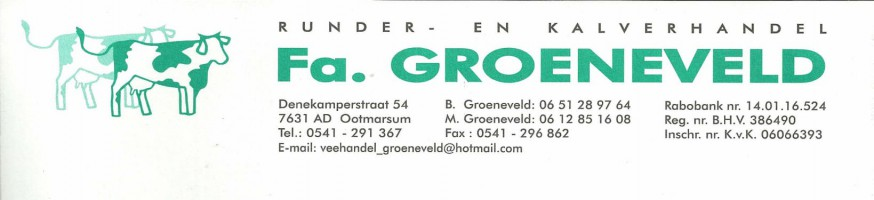 Runder- en Kalverhandel Fa Groeneveld